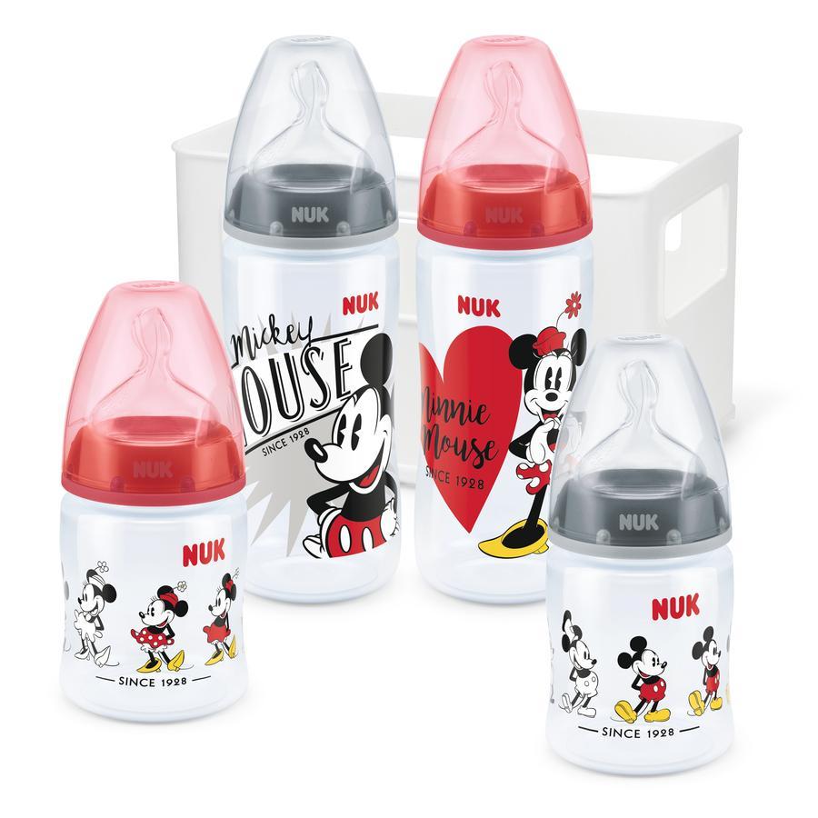 NUK Zestaw startowy First Choice + Disney Mickey Mouse z temperaturą Control , 0 - 6 miesięcy