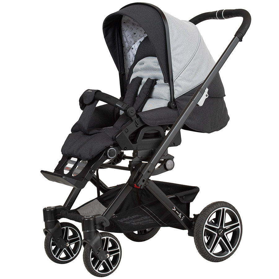 Hartan Kinderwagen Vip GTS new born teddy (411) Gestellfarbe schwarz