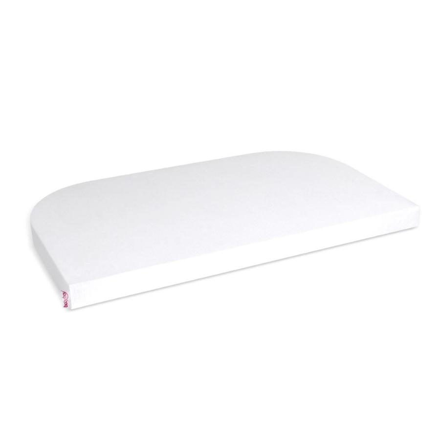 babybay Housse de matelas enfant Jersey, blanc, 89 x 50 cm