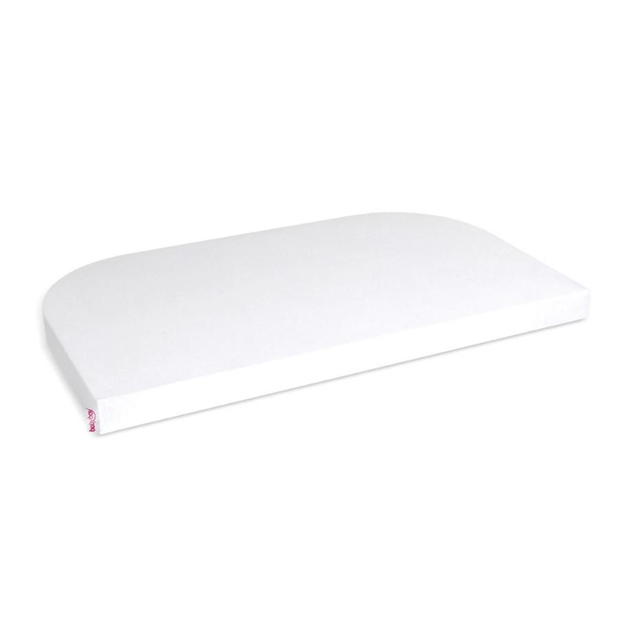 Tobi Babybay Sábana ajustable de punto liso Maxi blanca