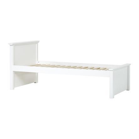 Hoppekids Maja Deluxe Sofabett 90 x 200 cm Rollrost weiß 1 hohes und 1 niedriges Bettende