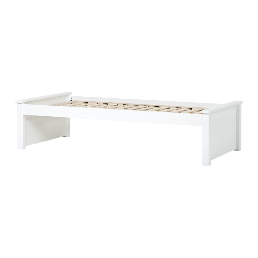 Hoppekids Rozkládací pohovka Maja Deluxe 90 x 200 cm s lamelovým roštem bílá 2 nízké konce postele