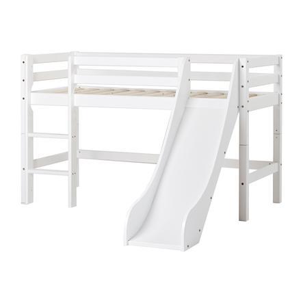 Hoppekids Halbhochbett Basic mit Rutsche weiß 70 x 160 cm