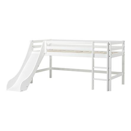 Hoppekids Halbhochbett Basic mit Rutsche weiß 70 x 190 cm