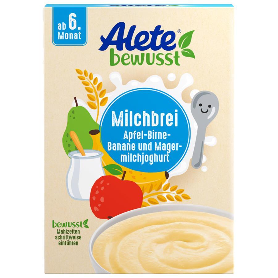 Alete Milchbrei Apfel-Birne-Banane und Magermilchjoghurt 400 g ab dem 6. Monat