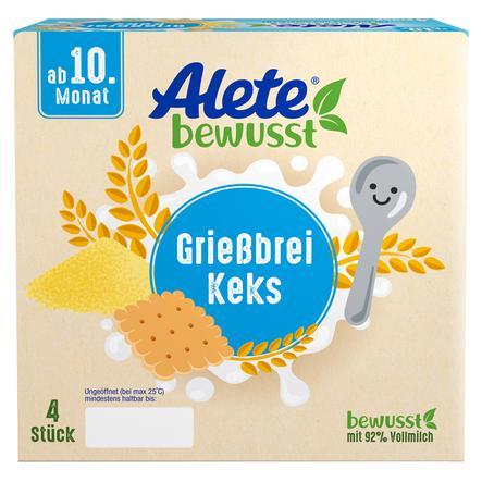 Alete Becherprodukt Griessbrei Keks 4 x 100 g ab dem 10. Monat