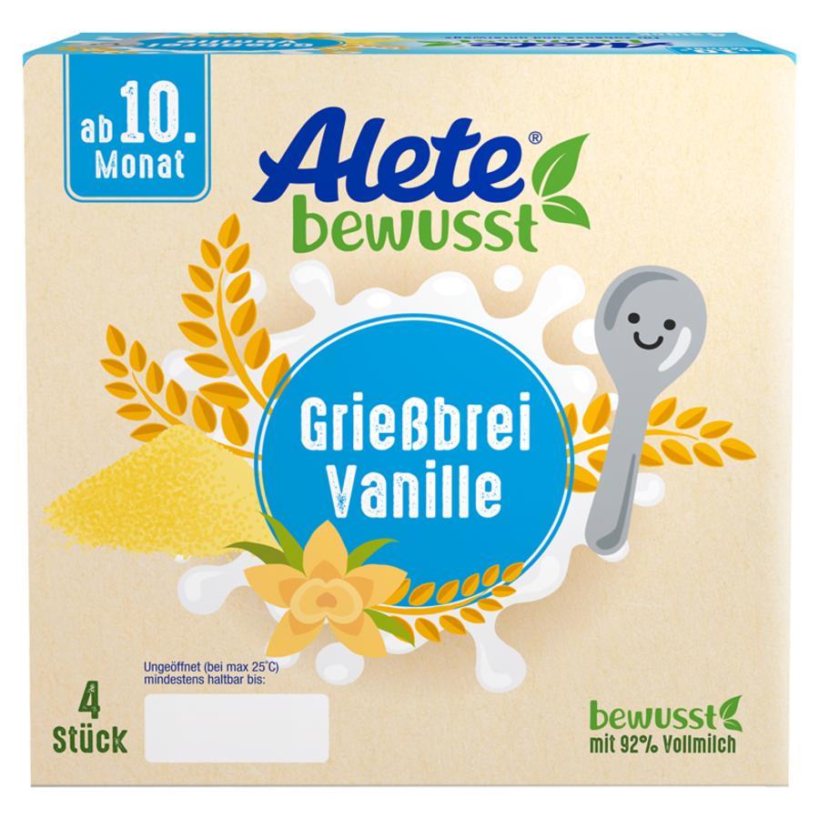 Alete Becherprodukt Grießbrei Vanille 4 x 100 g ab dem 10. Monat