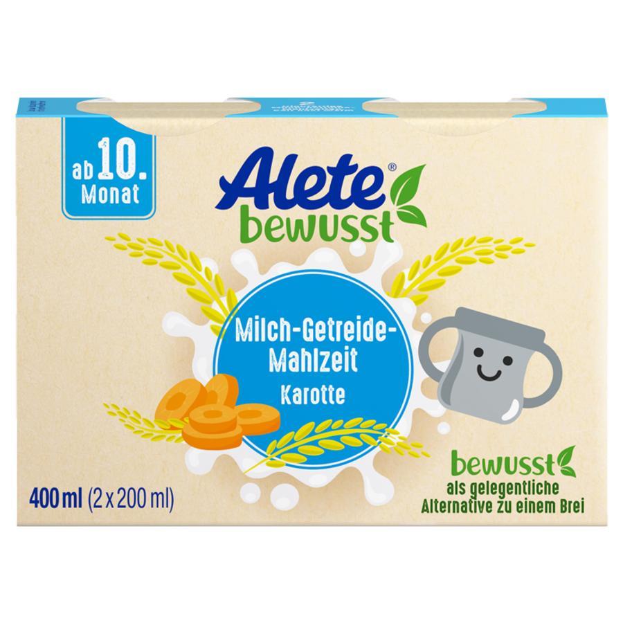 Alete Milch-Getreide-Mahlzeit Karotte 400 ml (2 x 200 ml) ab dem 10. Monat