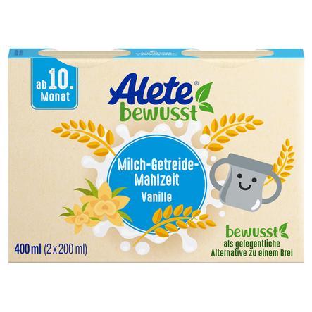 Alete Milch-Getreide-Mahlzeit Vanille 400 ml (2 x 200 ml) ab dem 10. Monat