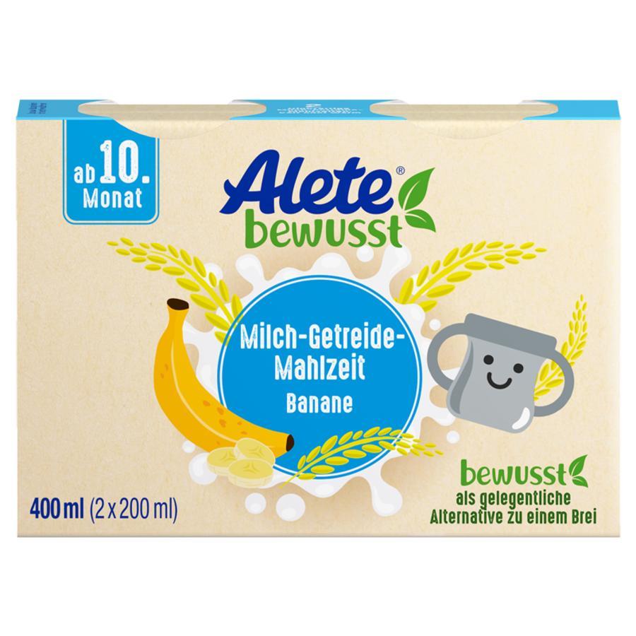 Alete Milch-Getreide-Mahlzeit Banane 400 ml (2 x 200 ml) ab dem 10. Monat