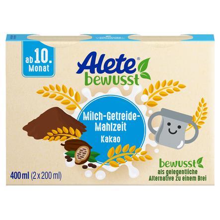 Alete Milch-Getreide-Mahlzeit Kakao 400 ml (2 x 200 ml) ab dem 10. Monat