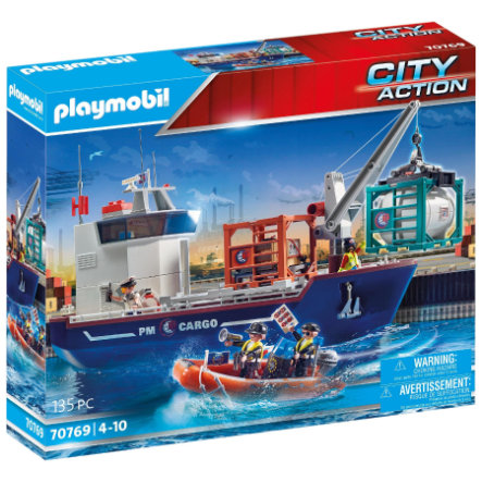 PLAYMOBIL® City Action Großes Containerschiff mit Zollboot 70769
