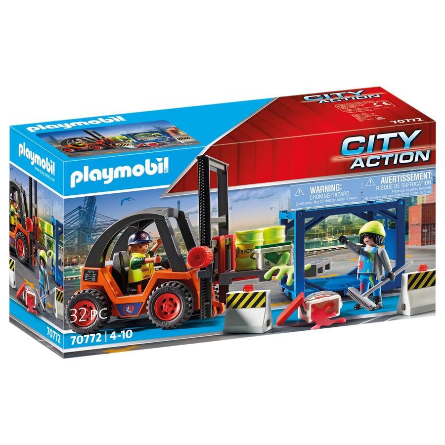 PLAYMOBIL  ® City Action gaffeltruck med last 70772