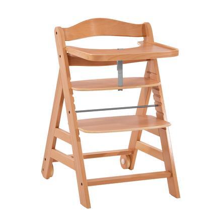 hauck Kinderstoel Alpha Verplaatsen inclusief houten bar Natuur