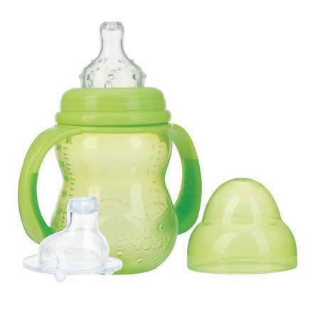 Nûby Weithals-Trinklernflasche mit Griff, 240 ml ab dem 3. Monat in grün