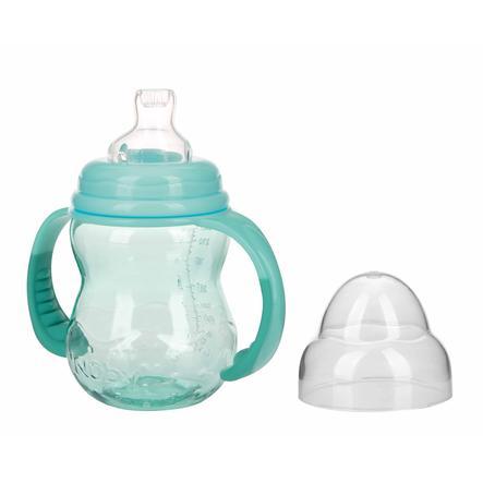 Nûby Weithals-Trinklernflasche aus Tritan mit Griff 240 ml ab dem 6. Monat in aqua