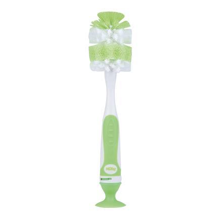 Nûby Flaschenbürste mit Saugfuß in grün