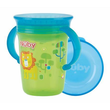 Nûby 360 ° Tritan drikkekop WONDER CUP 240 ml i grøn