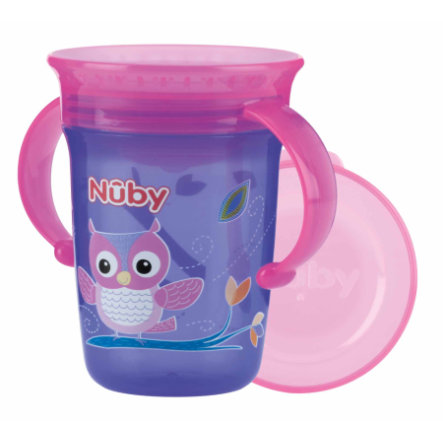 Nûby 360° Trinklerntasse Trinklernflasche aus Tritan WONDER CUP 240 ml in lila