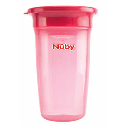 Nûby 360° Trinklernbecher WONDER CUP Basic ab dem 6. Monat 300 ml in pink