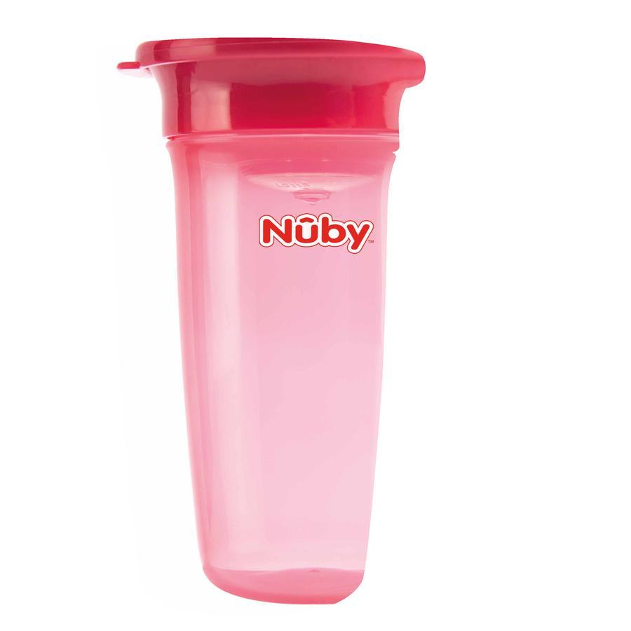 Nûby 360° hrníček WONDER CUP Basic od 6 měsíců 300 ml v růžové barvě