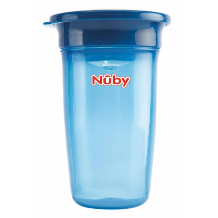 Nûby 360° Trinklernbecher WONDER CUP Basic ab dem 6. Monat 300 ml in blau