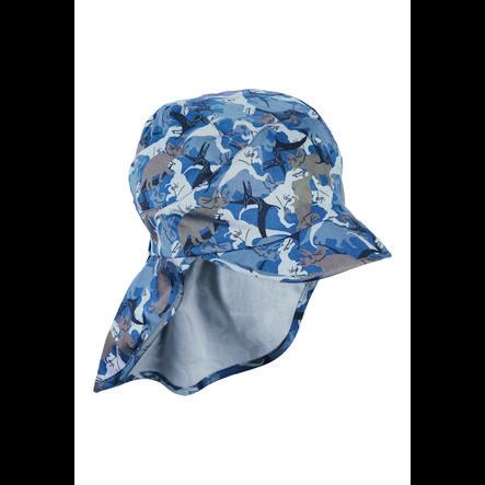 Sterntaler lue med nakkebeskyttelse blå