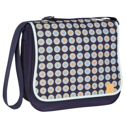 LÄSSIG Nappy Bag Basic Messenger Bag Daisy Navy