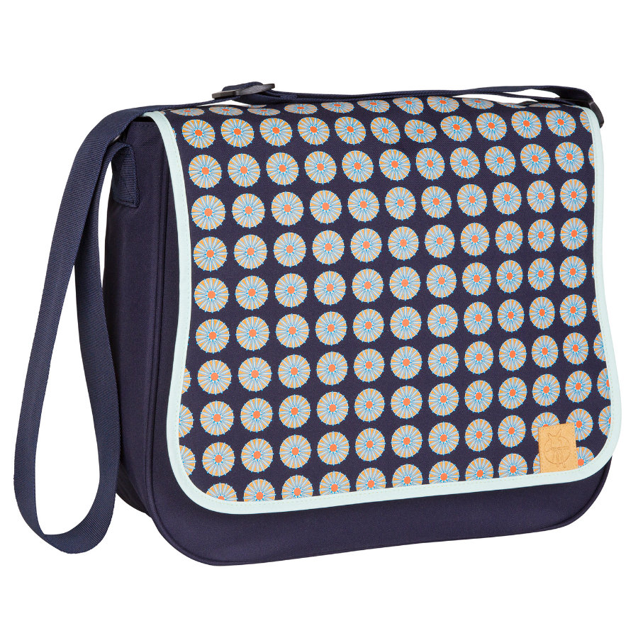 LÄSSIG Sac à langer Basic Messenger Bag Daisy Navy