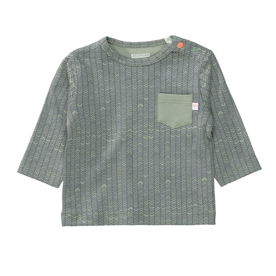 STACCATO Shirt soft ocean gemustert
