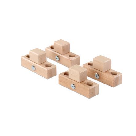 babybay® Verbindungsbacken zum Laufstall passend für Modell Original, Midi, Maxi und Boxspring natur lackiert