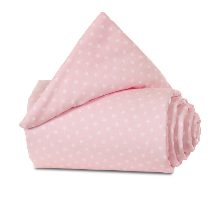 babybay Gitterschutz Organic Cotton für Verschlussgitter alle Modelle, rose Sterne weiß