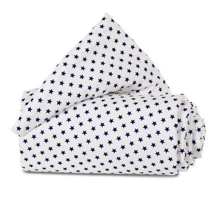 babybay Gitterbeskyttelse Organisk Cotton til lukning af gitteret alle modeller, hvide stjerner blå