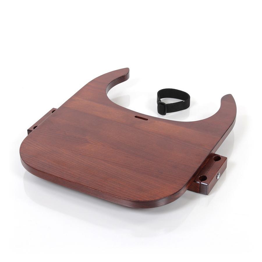 babybay® Tischplatte Hochstuhlumrüstsatz passend für Modell Original, Maxi, Comfort und Comfort Plus, dunkelbraun lackiert