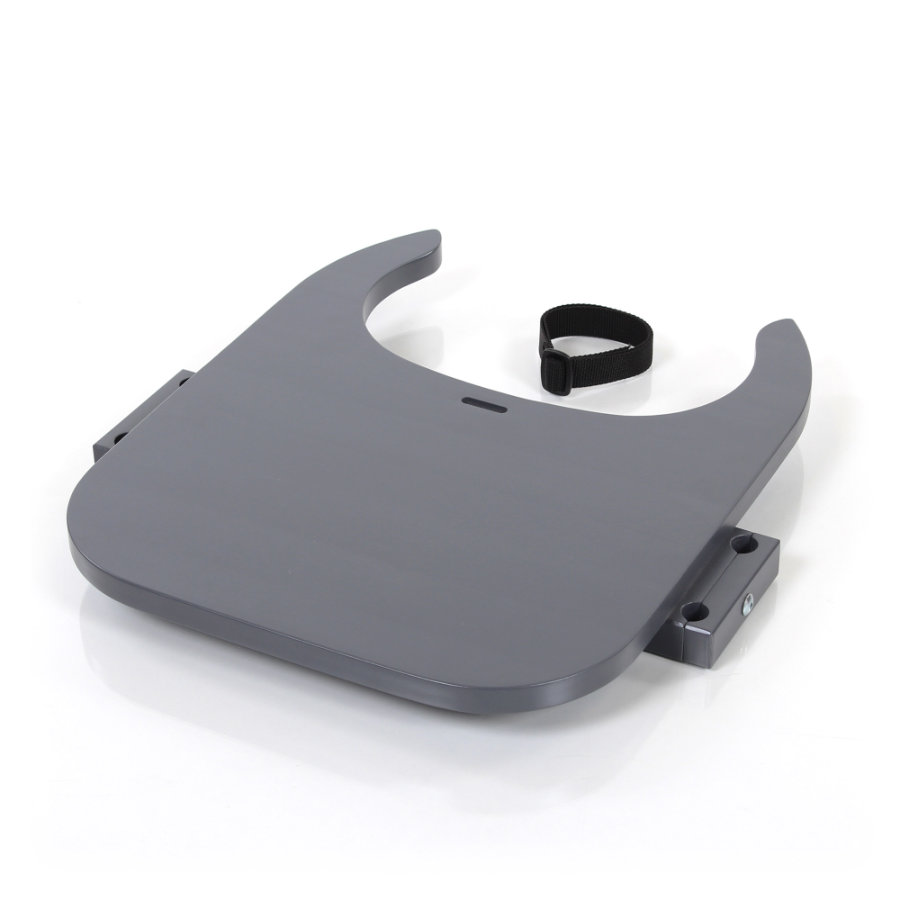 babybay® Tischplatte Hochstuhlumrüstsatz passend für Modell Original, Maxi, Comfort und Comfort Plus, schiefergrau lackiert