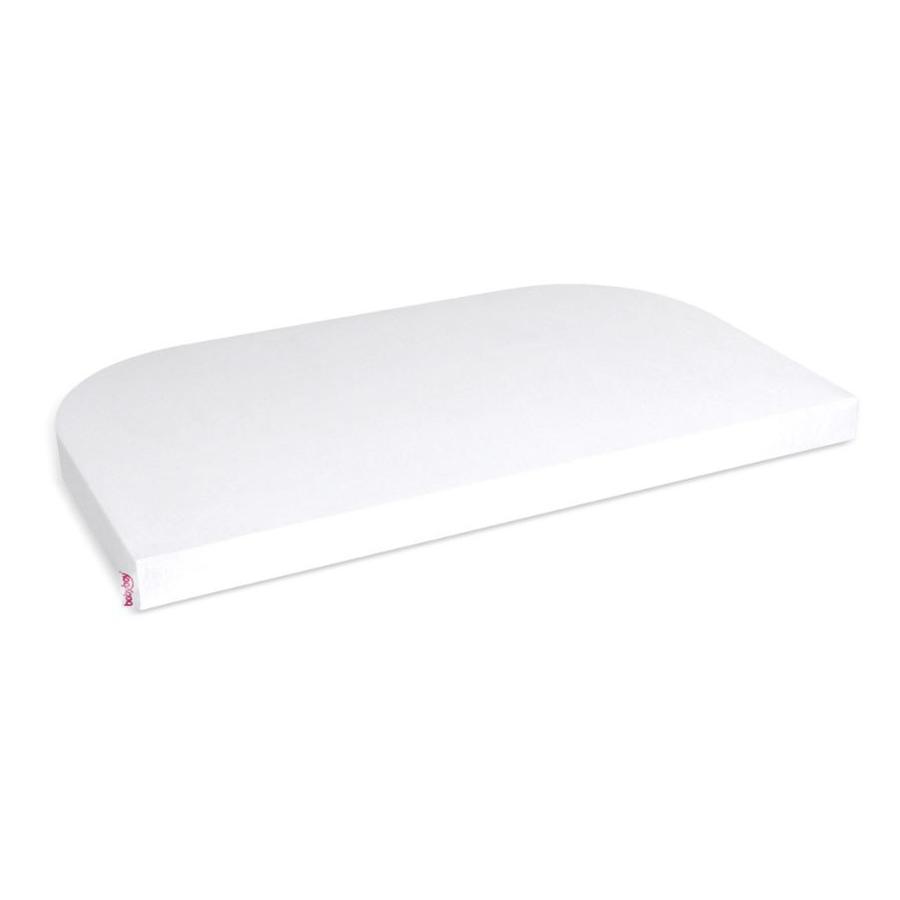 babybay ® Sábana bajera Deluxe Organic Cotton adecuada para el modelo de extensión lateral Original , Maxi, Midi y Boxspring, blanco