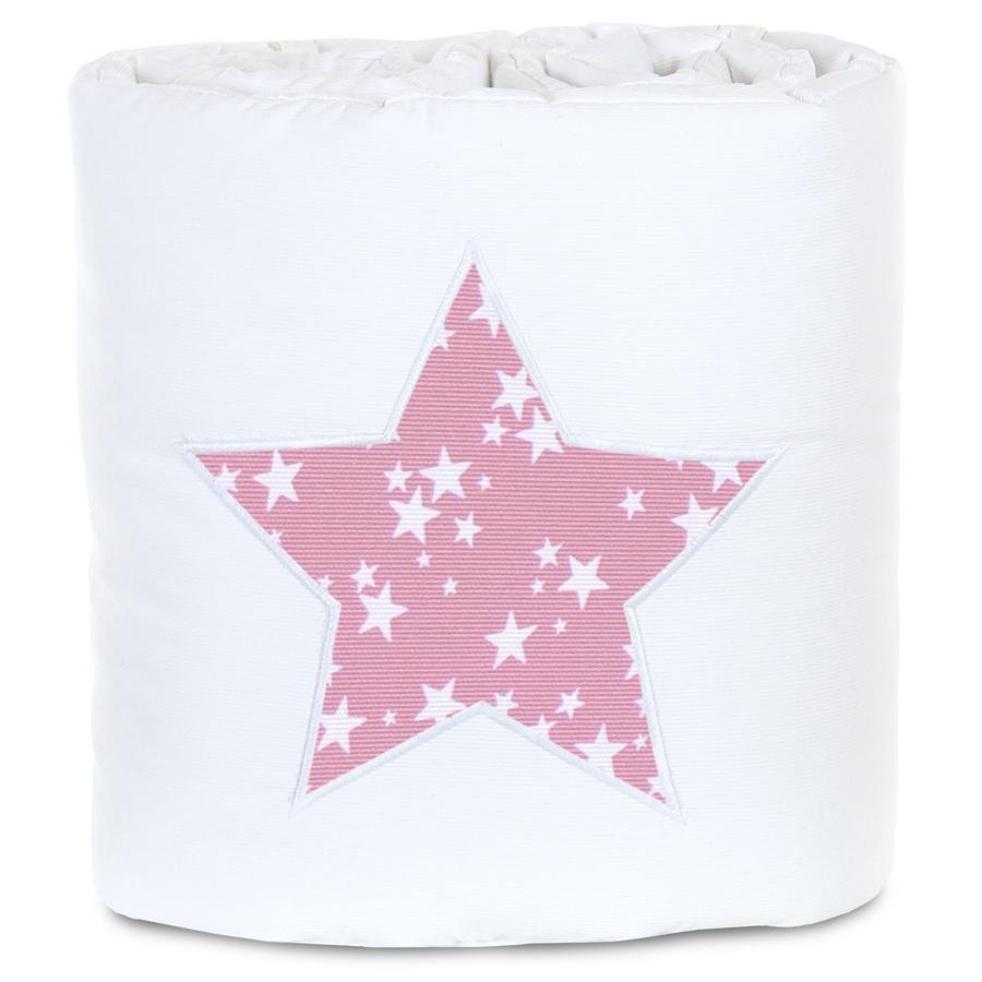 babybay® Nestchen Piqué passend für Modell Original, weiß Applikation Stern beere Sterne weiß