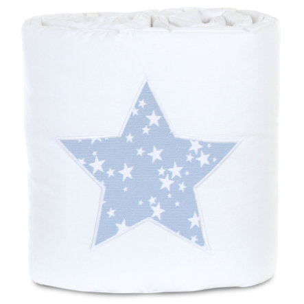 babybay® Nestchen Piqué passend für Modell Original, weiß Applikation Stern azurblau Sterne weiß