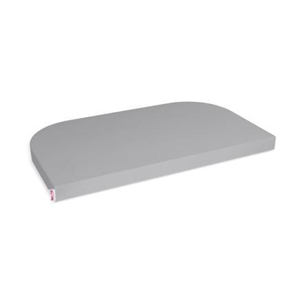 babybay ® Jersey hoeslaken Deluxe geschikt voor model extension side Original , Maxi, Midi en Boxspring, grijs