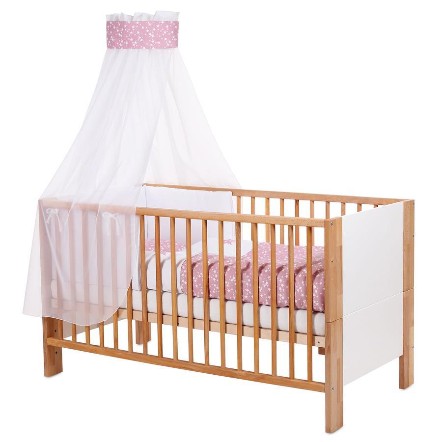 babybay ® wiegbekleding piqué met lint voor applicatie ster bes sterren wit