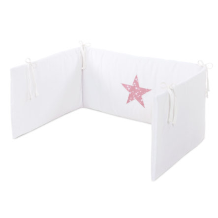 babybay® Kinderbettnestchen Piqué, weiß Applikation Stern beere Sterne weiß