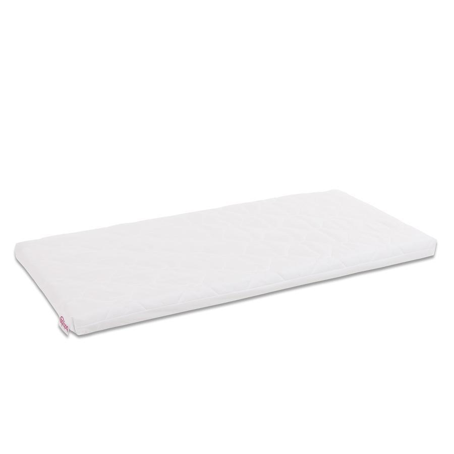 babybay ® Premium skiftbart deksel Klasse ic Bomull Myk egnet for modell Midi og Mini, hvit