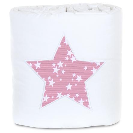 babybay® Nestchen Piqué passend für Modell Maxi, Boxspring, Comfort und Comfort Plus, weiß Applikation Stern beere Sterne weiß