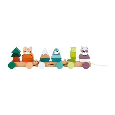 Janod® Nachziehspielzeug Tiger, Panda & Pinguin