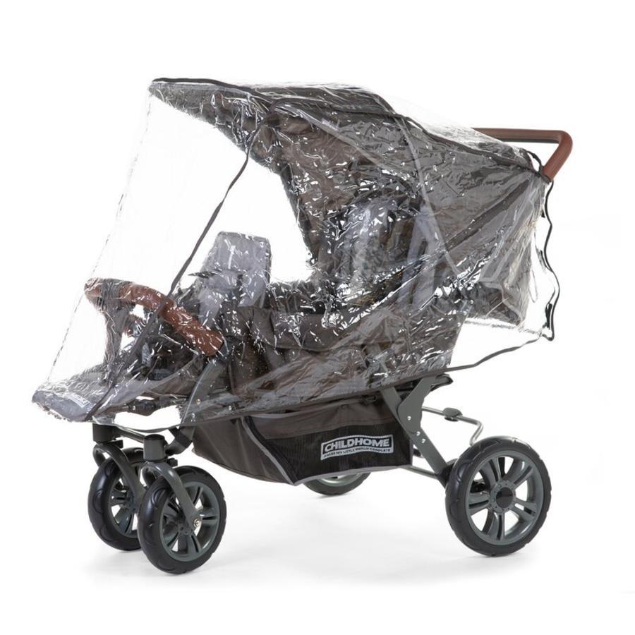 CHILDHOME Regenschutz für Drillingssportwagen Triplet