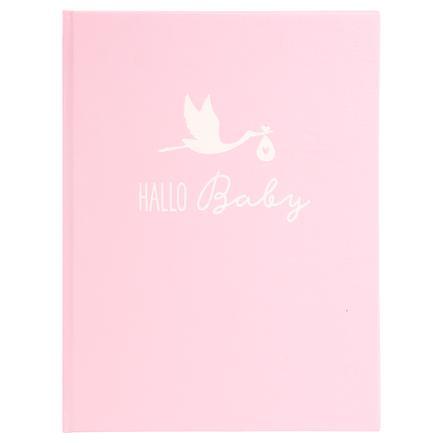 goldbuch Agenda pour bébé cigogne rose