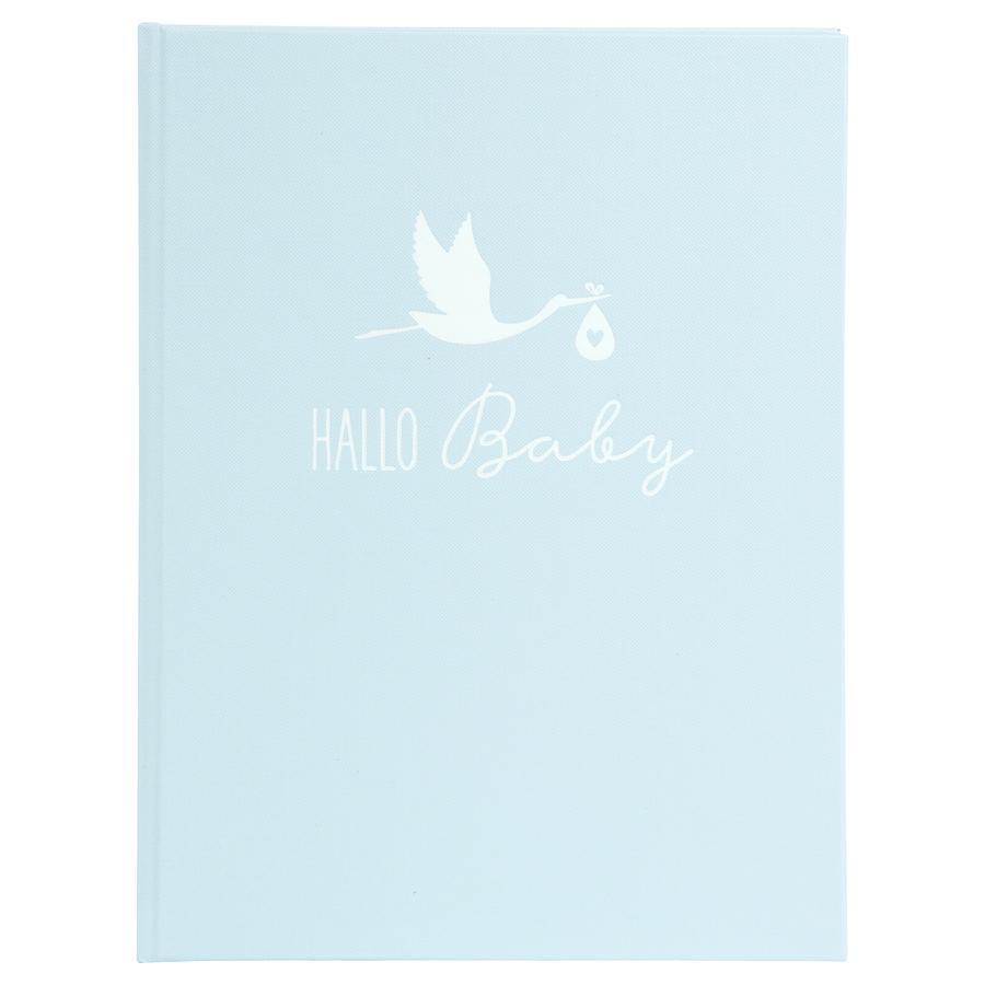 goldbuch Baby dagboek ooievaar blauw