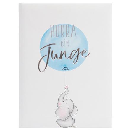 goldbuch Babydagbok Hurra - en gutt blå