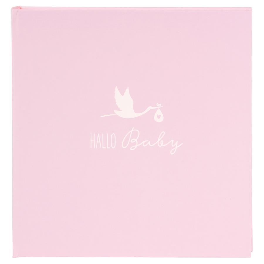 goldbuch Babyalbum - Storch rosa