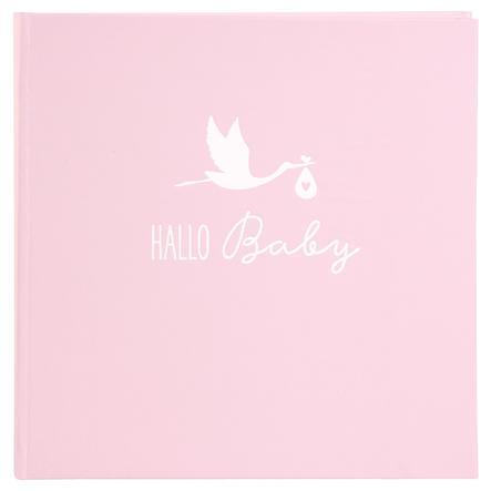 goldbuch Fotoalbum Storch rosa